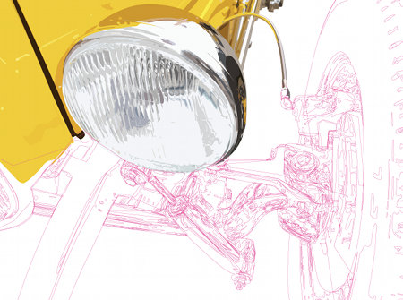 Hot Rod Headlight Artwork