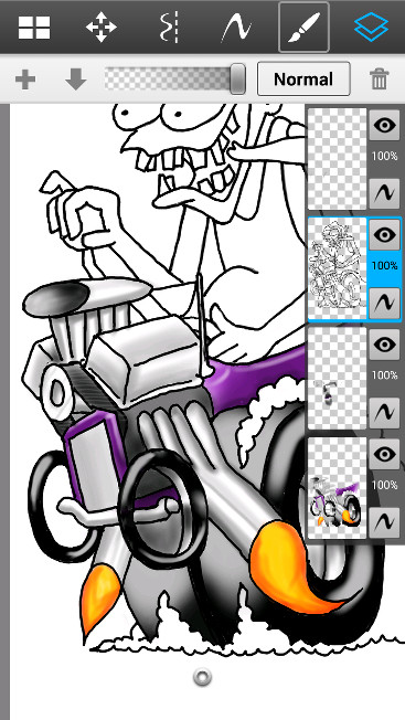 Hot Rod Monster Layers