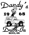 Dandy's Drive-In Decal