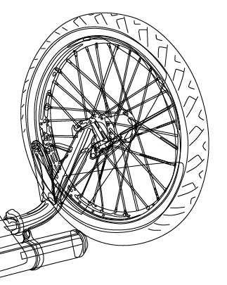 Dragster Wheel Line Art