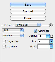 jpeg optimization settings