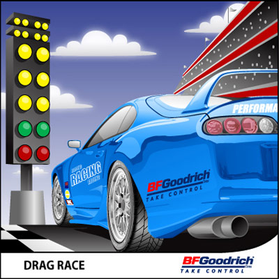 Bf Goodrich At >> BF Goodrich - Rat Race, Drag Race | Automotive Artwork by Greg