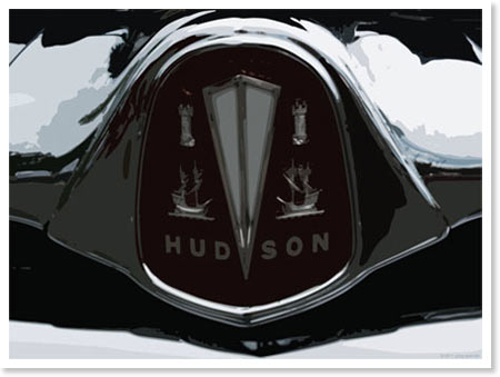 Hudson Motor Car Logo Automotive Artwork By Greg