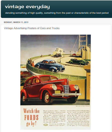 Vintage Advertising Posters of Cars and Trucks