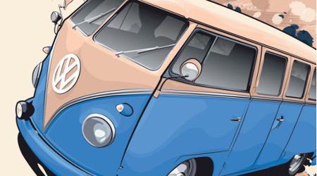 VW Bus Vector Tutorial