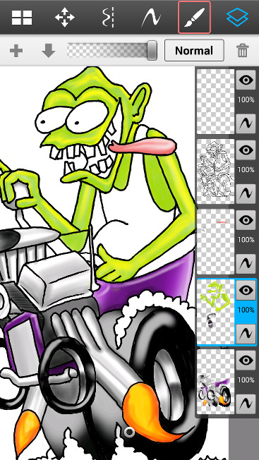 Hot Rod Monster Layers Closeup