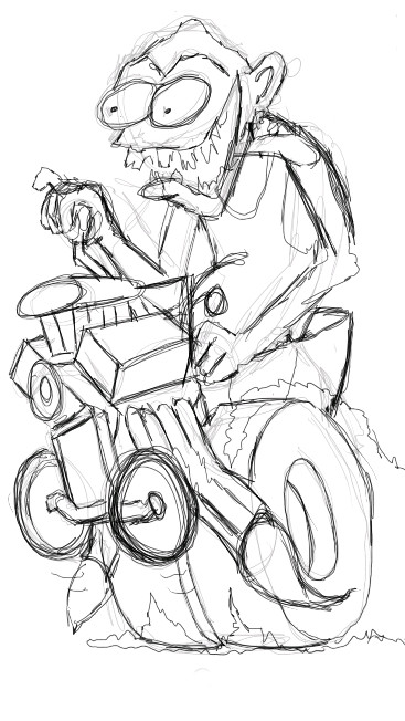 Hot Rod Monster Sketch