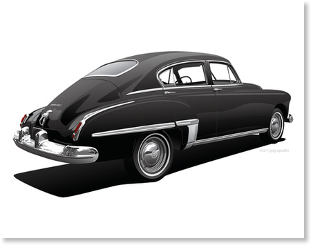 1949 Olds 76 Fastback Town Sedan