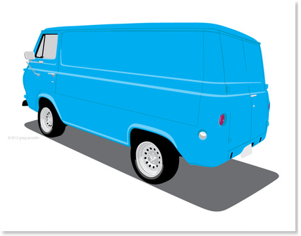 1965 Ford Van - Blue