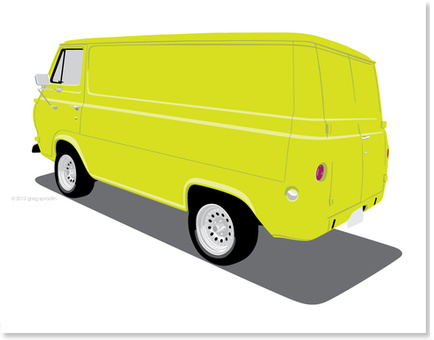 1965 Ford Van - Lime
