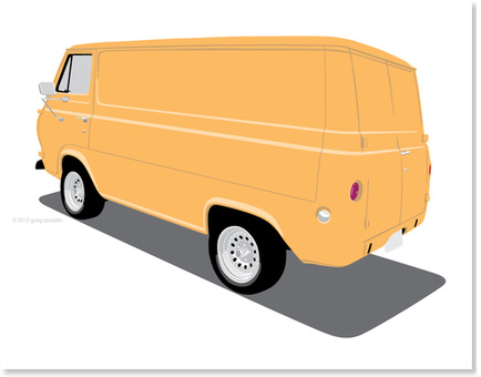 1965 Ford Van - Orange