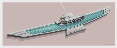1961 Ford Thunderbird Emblem
