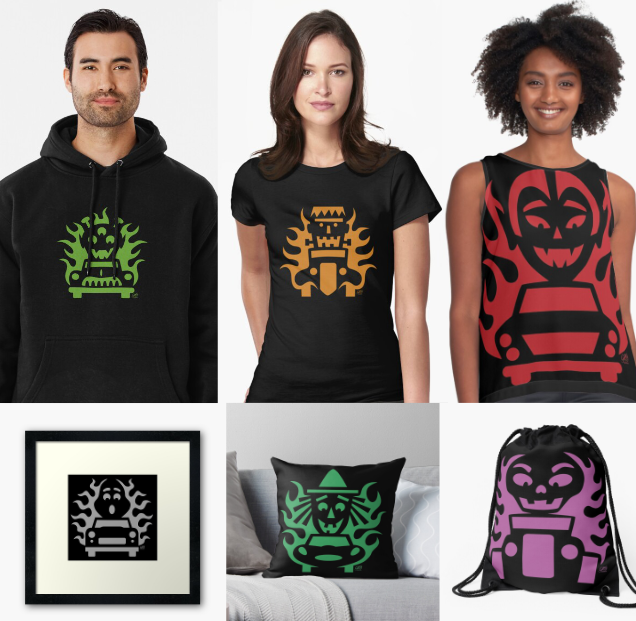 Hot Rod Halloween hoodies, shirts, pictures, pillows, bags and more.